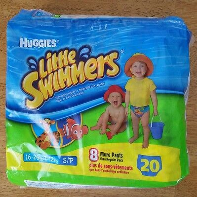 HUGGIES Little Swimmers size S 16-26lb.  Pack of 20, 2 missing