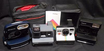 Lot of 4 Polaroid Instant Cameras: 600, Impulse,One Step Land & One Step Flash