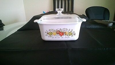 Vintage Corning Ware Rectangular Dish with Lid -  Spice of Life