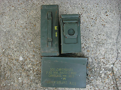 Lot of six (6) 30 Caliber M19A1 7.62MM Ammo Can Box Used .30 cal Empty