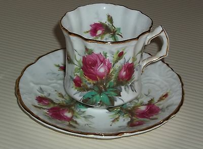 HAMMERSLEY BONE CHINA CUP AND SAUCER GRANDMOTHER'S ROSE PATTERN
