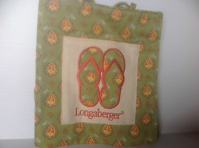 LONGABERGER  PAISLEY SMALL FLIP FLOP TOTE * NEW