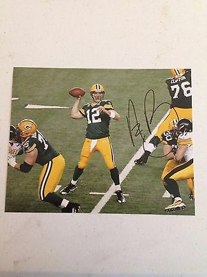 Aaron Rodgers Signed Autographed Green Bay Packers 8x10 Photo