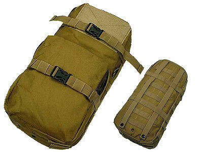 New Airsoft Molle Hiking Climbing Hydration Carrier Pack Water Backpack Tan
