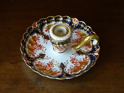 Antique Copeland Spode China Japanese Colour Candle, Taper or Chamber Stick