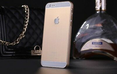 "New For iPhone 6 4.7"" Frame Luxury Chrome Hard Back Case Cover beautiful Gold"