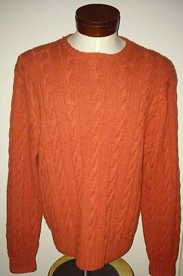 $895 Men's Lg Polo Ralph Lauren 100% handknit cashmere sweater Shirt EXCELLENT
