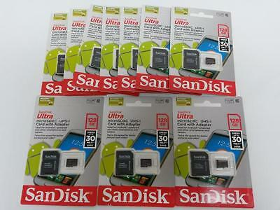 LOT 10x128 GB Class 10 Micro SD Memory Card incl. Adapter