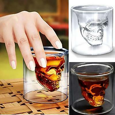 Crystal Skull Head Vodka Shot ey Wine Beer Bar Glass Drinking Decanter Cup