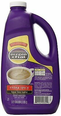 Oregon Chai Extra Spicy Original Chai Tea Latte Concentrate, 64 Ounce Jug , New,