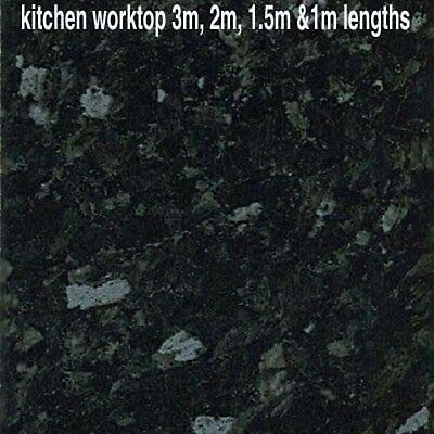 Oasis Black granite  laminate kitchen worktop 2m, 3m, 1.5m &1m lengths