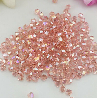 Free Shipping DIY jewelry 100PCS Shuihong 4mm # 5301 Bicone Crystal Beads New