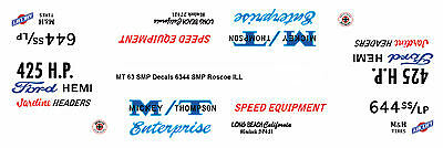 Mickey Thompson Super Stock 63 Ford 1/25th model car decal
