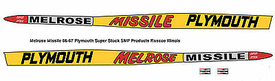 Melrose Missile 66-67 Plymouth Super Stocker 1/25th scale model car decal