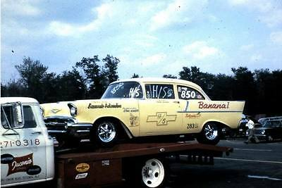 """Frank Iaconio's 57 Chevy """"Banana 1"""" 1/25th scale model car decal"""