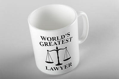 World's Greatest Lawyer Birthday Gift Present Coffee Tea Quirky Funny