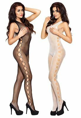 "Bodystocking ""BS003"" Damen-Body Catsuit ouvert Netz-Damenbody Passion Dessous"
