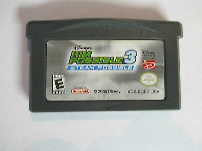 ORIGINAL GAMEBOY ADVANCE GAME (GBA)  - DISNEY'S KIM POSSIBLE 3 TEAM POSSIBLE