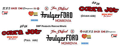 Foulger Ford Super Stock 68 Ford Mustang1/25th model car decal