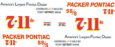 Brand New Offering Packer Pontiac 1962 Super Stock 1/25th model car decal
