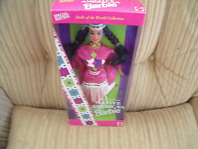 1994 Native American  Indian Barbie Doll - Doll of the World Collection - MIB