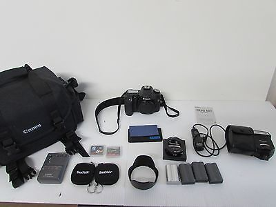 Canon EOS 50D Camera Bundle-(Battery Charger,Hood, RemoteSwitch, Flash,Mount AD)
