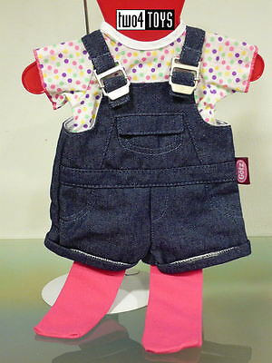 "GOTZ HANNAH DOLL CLOTHES - BLUE JEANS DUNGAREES SET - 18/ 20"" NRFB RETIRED"