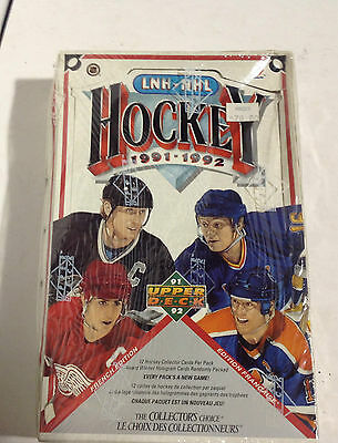 Factory Sealed 1991-91 UpperDeck UD French Edition Box 12 cards per pack
