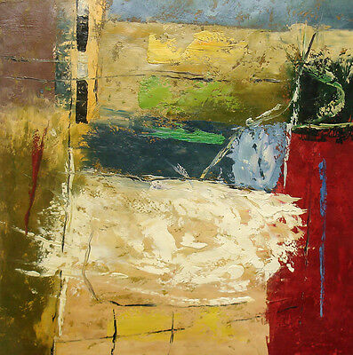 """Contemporary Oil Painting of Abstract - Nice Home Decor 24x24"""" Canvas"""