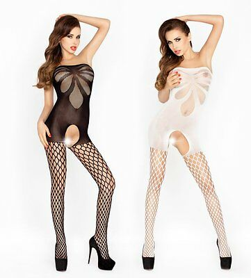 "Bodystocking ""BS021"" Damen-Body Catsuit ouvert Netz-Damenbody Passion Dessous"