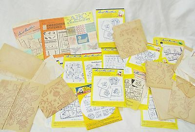 Embroidery Transfer Pattern lot new and used days of week animal flowers x-mas