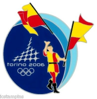"""2006 Torino Olympic """"SIENNE PALIO FLAG THROWER"""" Pin"""
