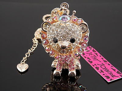 Free shipping!Betsey Johnson sparkling crystal Lion King pendant necklace # X232