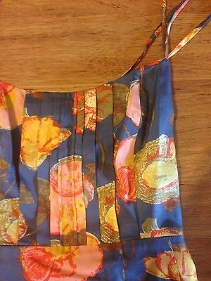 Anthropologie maeve PEONY SLIP DRESS $158 size 4 cut out back cotton/silk blend