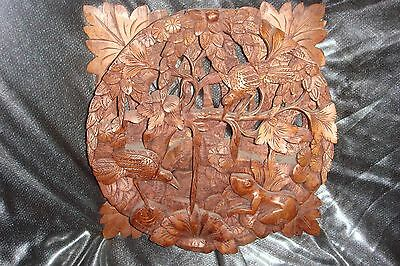 Indonesia Wood Carved - 3 DIMENSIONAL- Old Indonesian Vintage Art