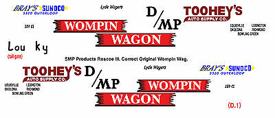 Wompin Wagon 1955 Chevy Nomad1/25th model car decal
