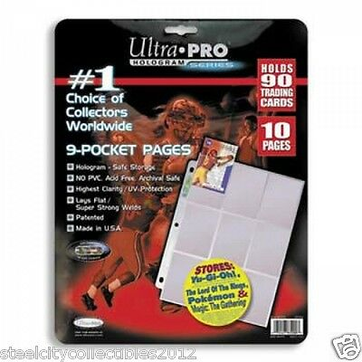 Ultra Pro Pages 9 Pocket 10 Count Pack Brand New