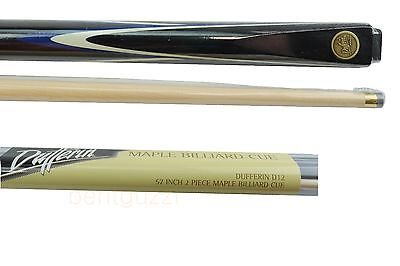"SALE DUFFERIN D12 Canadian Maple Blue-White Flame 57"" Pool CUE - Billiards"