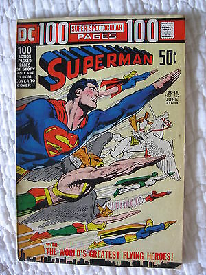 DC Comic SUPERMAN Issue #252 June 1972 -100 page - Very Good condition