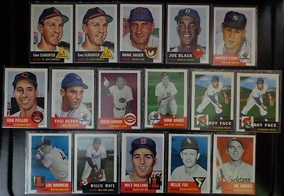 Topps Baseball Archives The Ultimate 1953 and 1954 Series Cards Lot of 18