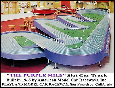 Purple Mile Sovereign Slot Car Track Poster 1965 Playland Raceway San Francisco