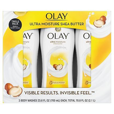 OLAY Ultra Moisture Body wash with Shea Butter ( 3 pack ) 23.6 oz