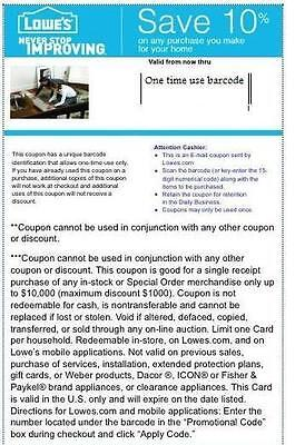 3 Lowes 10% Off Coupons Free Shipping Expires 5/7/15