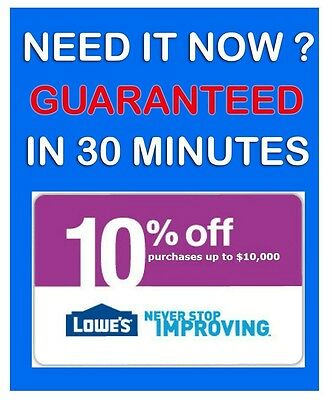 FIVE (5) Lowes 10% Off Coupons * 5/7/2015 PRINTABLE! Email Fast. ! GUARANTEED!!