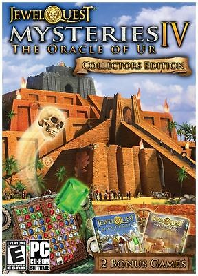 JEWEL QUEST MYSTERIES 4 ORACLE OF UR Collector's Edition PC DVD BRAND NEW SEALED