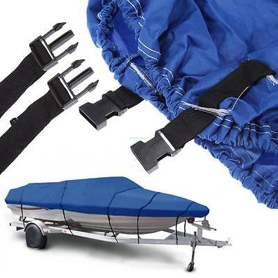 "95"" W Beam Fishing Ski Boat Cover Trailerable 16FT 17FT 18FT 600D Blue 16' - 18'"