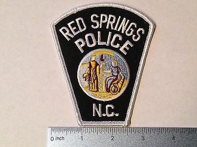 RED SPRINGS POLICE PATCH NORTH CAROLINA