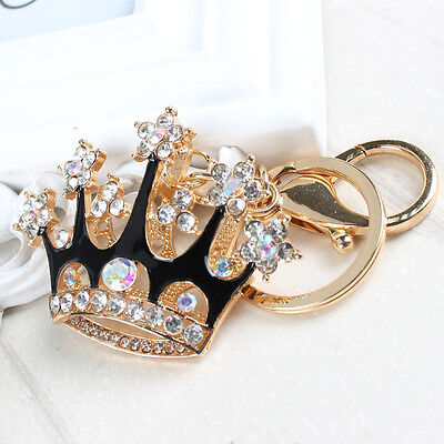 King Crown Fashion Rhinestone Crystal Pendent Purse Bag Key Chain Exquisite Gift