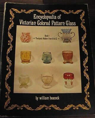 Enc of victorian colored pattern glass book 1 Toothpick holders William Heacock