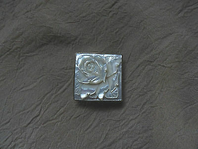 gorgeous small vintage hand carved mother of pearl buckle